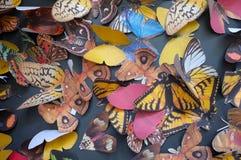 Carta stampata della farfalla Fotografie Stock Libere da Diritti