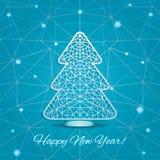 Carta stilizzata di taglio dell'albero di Natale Immagini Stock Libere da Diritti
