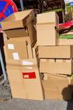 Carta straccia dalle scatole di cartone Fotografia Stock Libera da Diritti