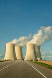 Carta stradale di energia nucleare Immagini Stock