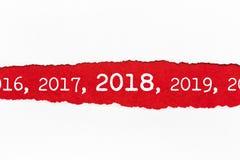Carta strappata 2018 Immagini Stock