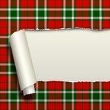 Carta strappata con il fondo senza cuciture del modello del tartan Fotografia Stock