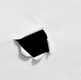 Carta strappata e lacerata Fotografie Stock Libere da Diritti