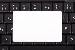 Carta sulla tastiera Immagine Stock