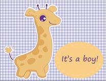 Carta sveglia con la giraffa. Fotografia Stock Libera da Diritti