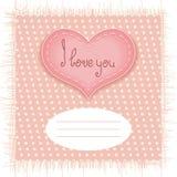 Carta tenera di giorno di biglietti di S. Valentino Immagini Stock Libere da Diritti