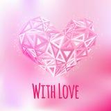Carta triangolare del cuore di amore Fotografia Stock