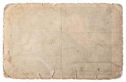 Carta usata isolata su bianco Cartone lacerato d'annata fotografie stock