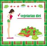 Carta vegetariana di dieta Fotografia Stock