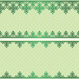 Carta verde chiaro dell'invito con la pendenza su ornam Illustrazione di Stock