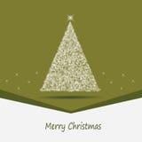 Carta verde con un tema de la Navidad Foto de archivo