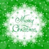 Carta verde de la Navidad Foto de archivo libre de regalías