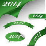 Carta verde del Año Nuevo de la Navidad Fotografía de archivo