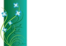 carta verde del vector con las plantas Imágenes de archivo libres de regalías