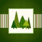 Carta verde di Natale Fotografia Stock