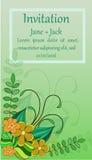 Carta verticale d'annata inviti verticali dell'insegna Immagine Stock Libera da Diritti