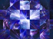 Carta vibrante caotica del mosaico di stile di colore del fiore di frattale di astrazione illustrazione vettoriale