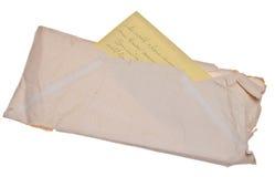 Carta y sobre viejos Foto de archivo