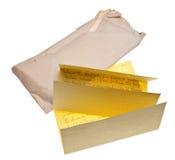 Carta y sobre viejos Imagenes de archivo