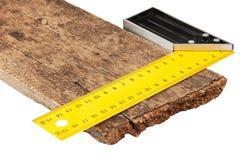 Cartabón y el tablero imagen de archivo