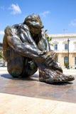 Cartagena, Испания - 13-ое июля 2016: Памятник El Zulo, созданное скульптором Виктором Ochoa Предназначенный к жертвам террора Стоковое Изображение RF