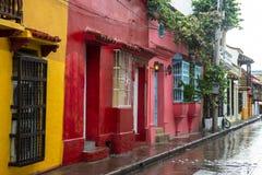 Cartagena Колумбия, старый город, перемещение стоковое изображение