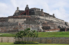 Cartagena. San Felipe fortification, in Cartagena, Colombia royalty free stock image