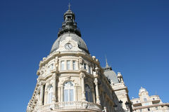 Cartagena. Ayuntamiento (Palacio Consistorial) in Cartagena, Spain. Beautiful landmark and blue sky Stock Image