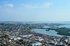 Cartagena from above Royalty Free Stock Images
