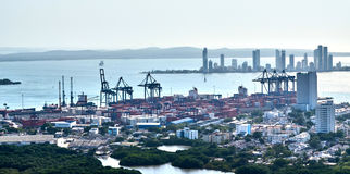 Cartagena from above Royalty Free Stock Photo