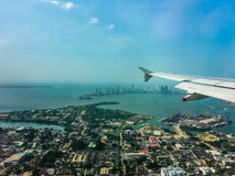 Cartagena Aerial View from Window Plane Stock Photography