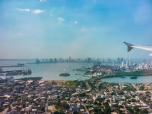 Cartagena Aerial View from Window Plane Stock Photos