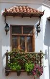Cartagena Balcony. Balcony located in Cartagena Colombia stock photo