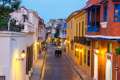 Cartagena-Blau-Stunde Lizenzfreie Stockfotos