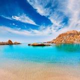 Cartagena Cala Cortina beach in Murcia Spain Royalty Free Stock Images