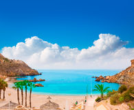 Cartagena Cala Cortina beach in Murcia Spain Stock Photos