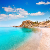 Cartagena Cala Cortina beach in Murcia Spain Royalty Free Stock Photos