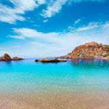 Cartagena Cala Cortina beach in Murcia Spain Royalty Free Stock Images