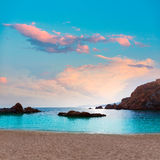 Cartagena Cala Cortina beach in Murcia Spain Royalty Free Stock Image