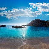Cartagena Cala Cortina beach in Murcia Spain Royalty Free Stock Photos