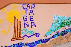 Cartagena Cala Cortina beach in Murcia Spain Stock Image