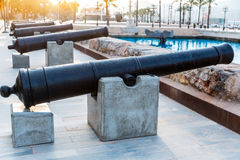 Cartagena cannon Naval museum port at Spain Royalty Free Stock Photography