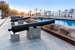 Cartagena cannon Naval museum port at Spain Stock Image