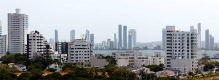 Cartagena Caribbean Skyline Stock Image