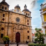 Cartagena City Cathedral Church Colombia South America stock image