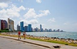 Cartagena city skyline Royalty Free Stock Images