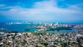 Cartagena City Skyline Colombia South America royalty free stock photos