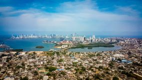 Cartagena City Skyline Colombia South America royalty free stock images