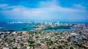 Cartagena City Skyline Colombia South America stock photos