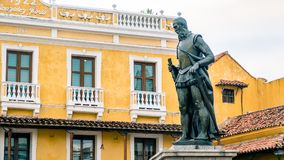 Cartagena City Statue Colombia South America. Very much one of the main tourist attractions and points of interest in the area royalty free stock images
